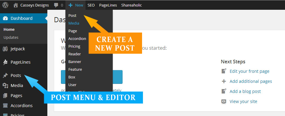 Step 2 - Access the post editor